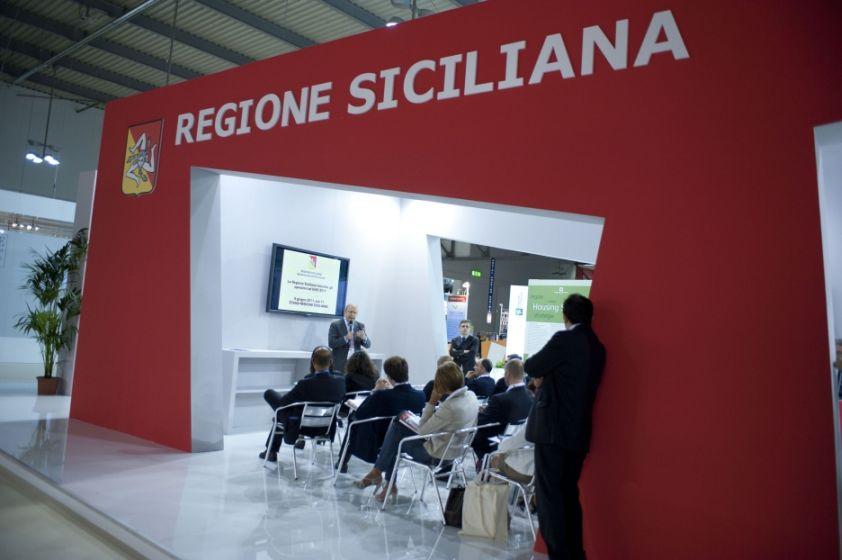 Lo stand della Regione Siciliana ad EIRE 2011