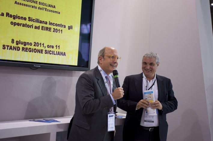 L'Assessore Armao con il presidente di EIRE Antonio Intiglietta