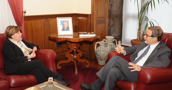RAPPORTI STATO-REGIONE - Il Commissario Cagliostro in visita a Palazzo d'Orleans