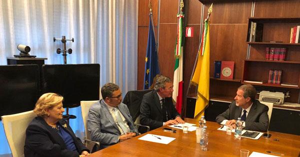 INCONTRI ISTITUZIONALI - Musumeci riceve neo sindaco di Gela Greco