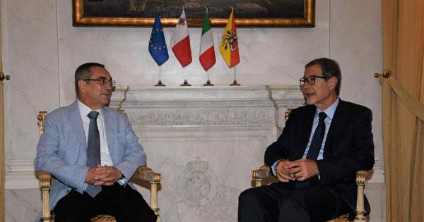RAPPORTI ISTITUZIONALI - Il ministro maltese Mizzì a Palazzo d'Orleans