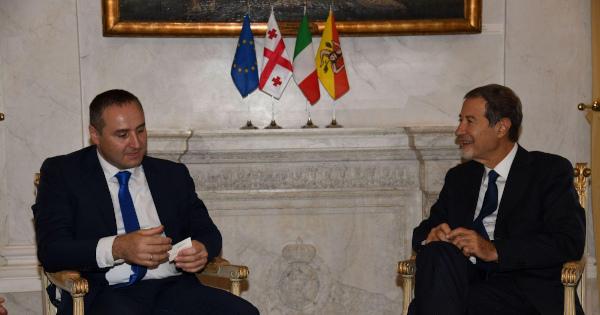 VISITE ISTITUZIONALI - L'ambasciatore di Georgia a Palazzo d'Orleans