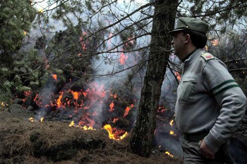 Incendio sull'Etna