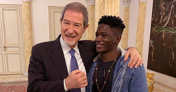 PALERMO - Musumeci incontra il senegalese aggredito
