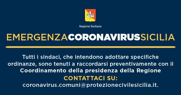 CORONAVIRUS - Ordinanze sindaci concordate con Regione