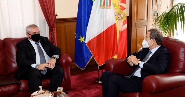 PALAZZO ORLEANS - Musumeci riceve il console russo a Palermo Patronov
