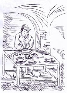 Il pentolaio (disegno di Santino Lembo)