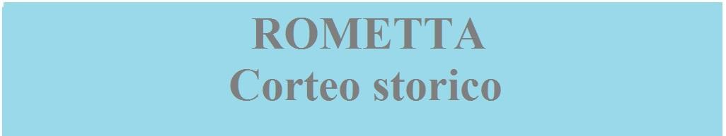 Rometta corteo storico banner