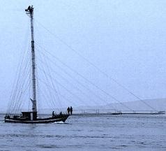 La feluca, imbarcazione da pesca tipica dello Stretto di Messina