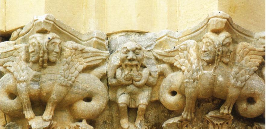 Capitelli portale Cattedrale Patti