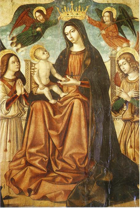 Madonna con bambino e gli angeli - Antonello dei Saliba Cattedrale Patti