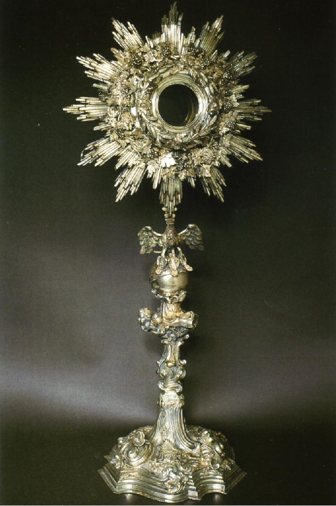 Ostensorio d'argento Museo Diocesano Patti