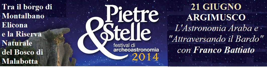 Montalbano Elicona: il Festival di Archeoastronomia tra i Megaliti dell'Argimusco il 21 giungo 2014