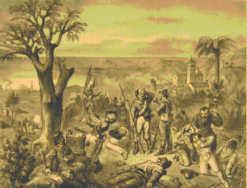 Rosalino Pilo mortalmente ferito sulle alture di Monreale