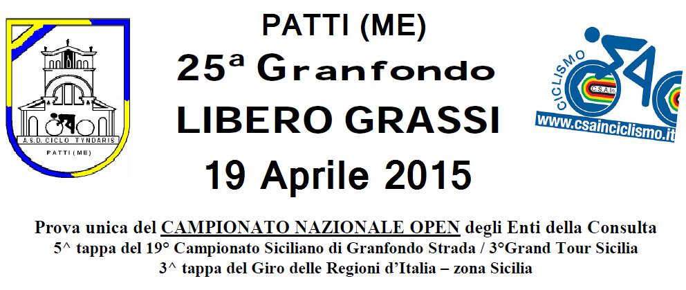 Patti: 25° Granfondo Libero Grassi, manifestazione di interesse cicloturistico, domenica 19 Aprile