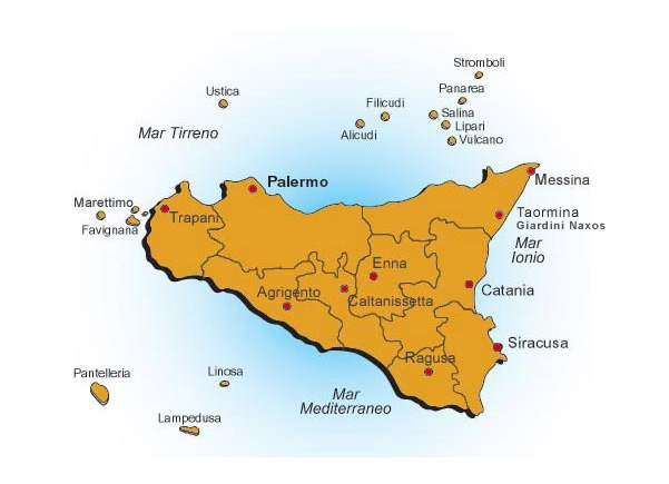 Cta cyi lmp nsy pmo pnl tps airports of sicily italy for Pti regione sicilia