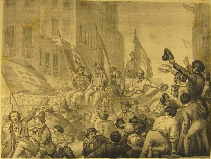 Entrata di Garibaldi a Messina