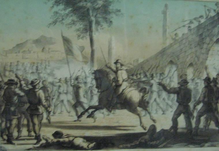 Combattimento di Garibaldi colle truppe borboniche al ponte dell'ammiraglio il 27 maggio 1860